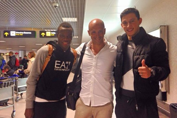 A good surprise when you meet ex-players as soon as you land in portugal - Lisbon Airport with Bruma and Castro