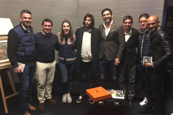 FCSD Coaches with Salvador Sobral during the 2017 Eurovision festival - Kiev, May