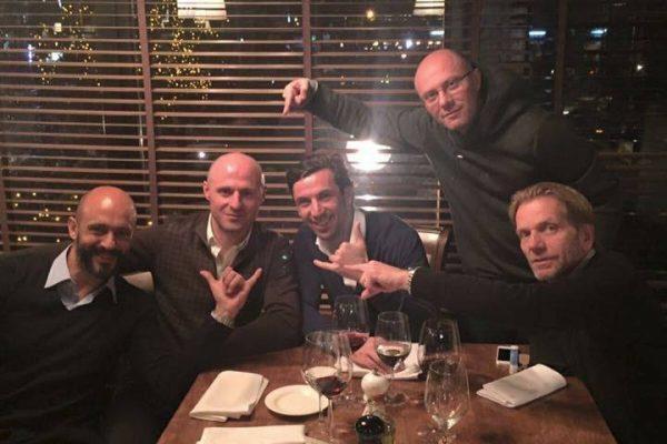 Igor Duljay birthday - With Darijo Srna, Carlo Nicolino and Igor - November 2015