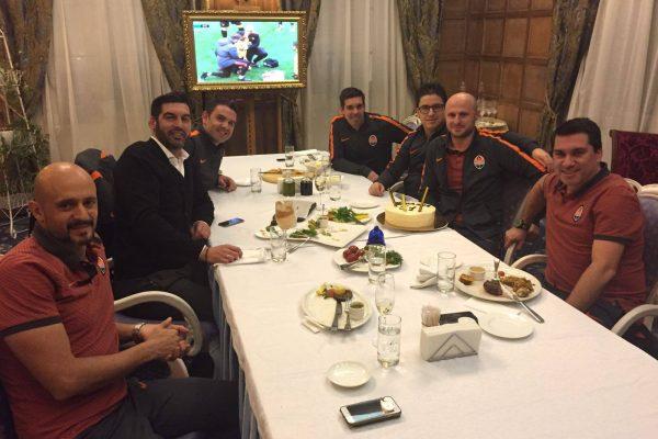Igor Duljay birthday dinner - Shakhtar coaching staff