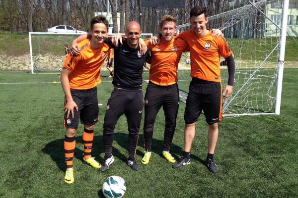 In Poltava with my U21 players Dmitro Ivanisynea, Dennis Bezborodko and Andrey Korobenko - April 2015