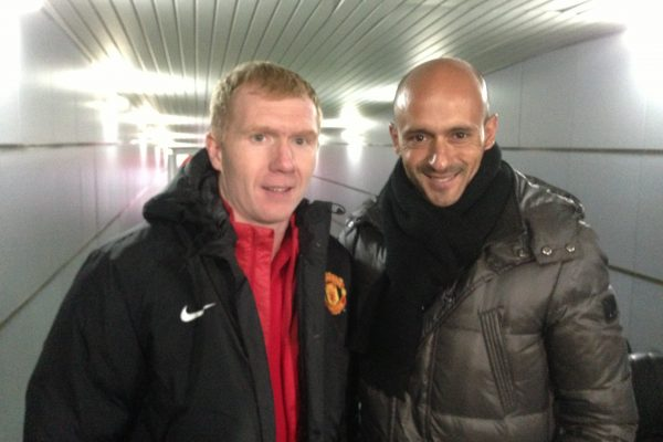 October 2013 - UEFA Youth League game - FCSD x Manchester United - With Paul Scholes