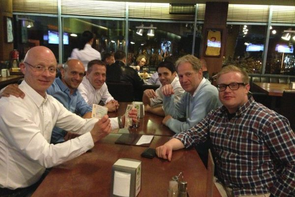 Uzoveskaya Brewery - Donetsk - July 2003 - With Joe Palmer, Markus Neef and other friends - Ice-hockey coaches