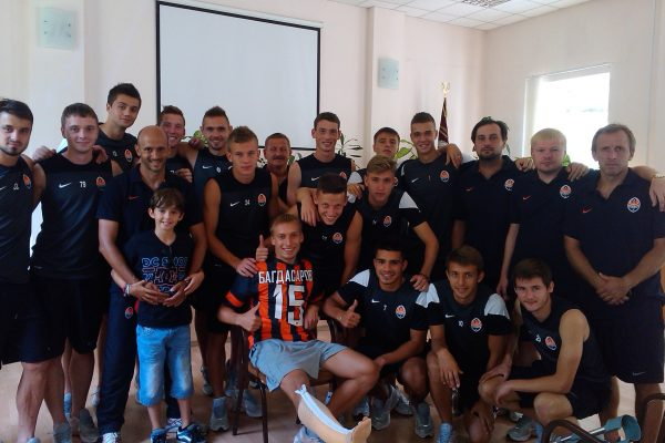 Visiting my player Bagdsarov that broke a leg on TS - August 2013