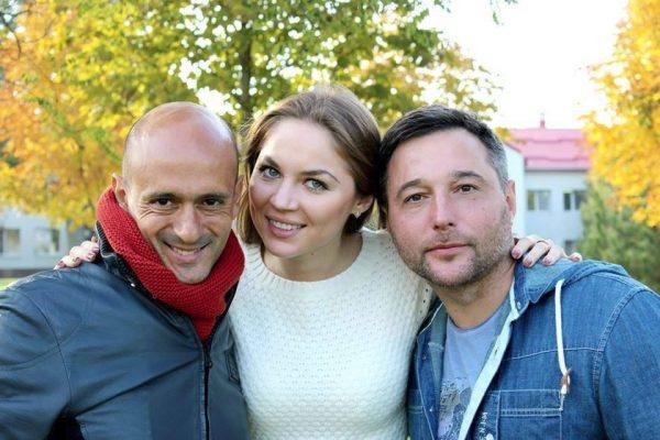 With Alicia Borovik and Oleksandr Founderat - Kirsha Training Center - Donetsk - September 2013