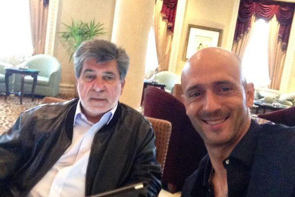 With Amadeu Paixão in Donbass Palace - Donetsk - April 2014