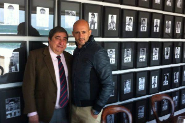 With Augusto César lendoiro, President of Deportivo La Coruña - Februray 2013