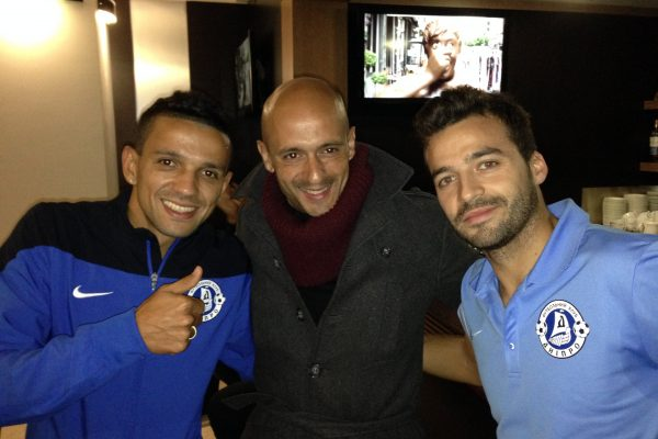 With Bruno Gama and Matheus, my ex-players in Donetsk - November 2013