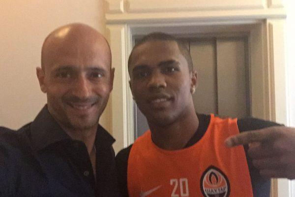With Douglas Costa - June 2015