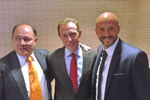 With Emilio Butragueño and luis Gonçalves - Champions League Game Real Madrid x FCSD - September 2015