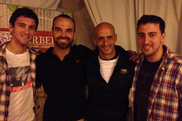 With Facundo Ferreira, Telmo Sousa and Maxi Lo Russo - Barberry - Donetsk - August 2013