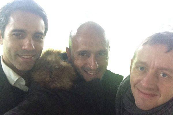With Joe Palmer and Yuri Sviridov, FC Shakhtar Donetsk Directors and friends - May 2014