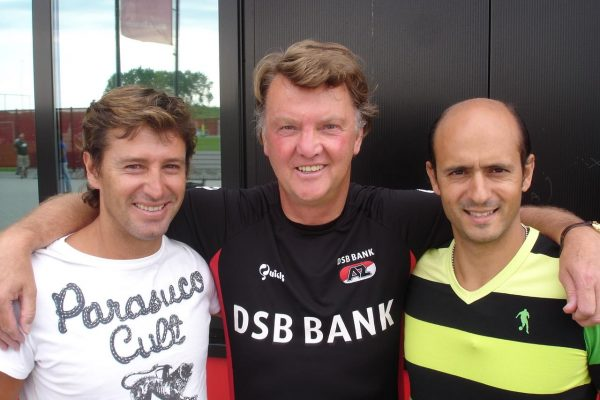 With Louis Van Gaal and Domingos Paciência in Alkmaar - 2007