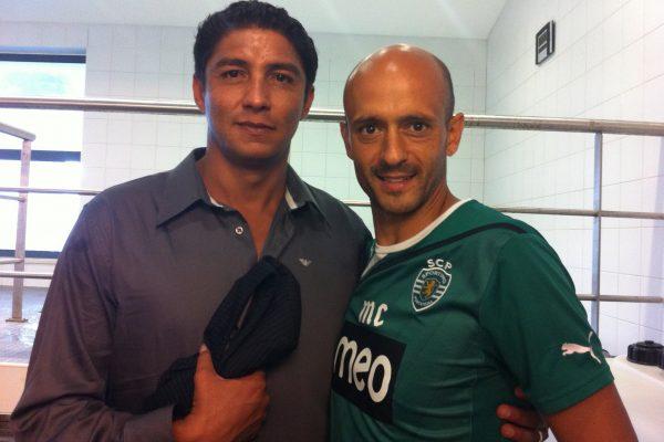 With Mário Jardel when visiting Sporting - 30 de Outubro de 2011