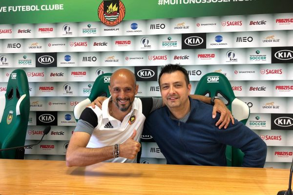 With Marco Carvalho my Press Director in Rio Ave - Vila do Conde, may 2018