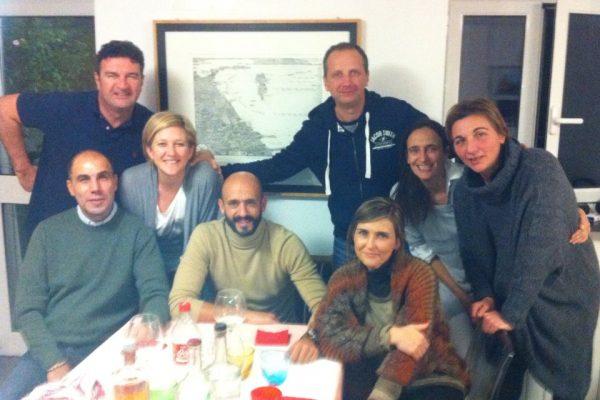 With Paolo barbero, Gianni Brignarderlo, Mario Cuzzilla and wifes - Sestri Levante - December 2012