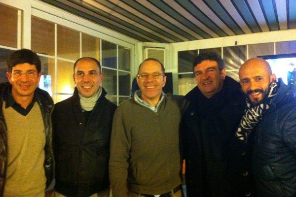 With Roberto Murgita, Gianni brignarderlo, Enrico Montovani and Mario Cuzzilla - December 2012