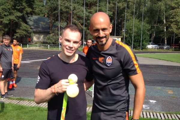 With Verniaiev - Gold medalist in Gymnastics from Ukraine