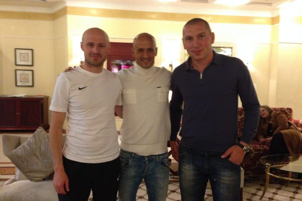 With igor duljay and Mariouz Lewandowski former FCSD players - November 2014