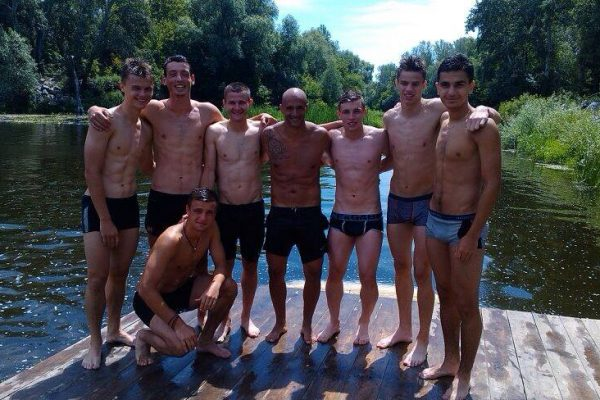 With my U21 players on a break of the work - July 2014