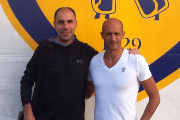 With my friend Gianni Brignardelo at Chievo Verona training center - Verona, October 2012