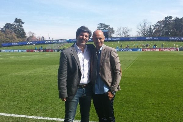 With my friend marco Chevallaz - UEFA Youth League Final - Nyon, April 2015