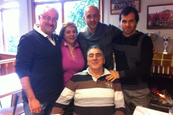 With the kitmans from Deportivo la Coruña and the cooker of the best tortilla in all the city - February 2013