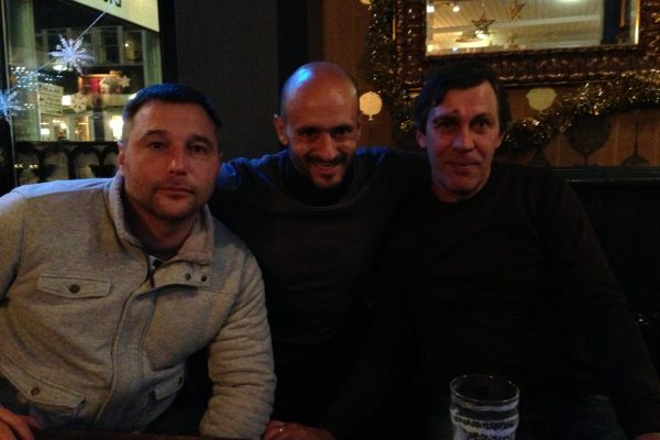 Youth Champions League game - Manchester -With friend Oksandr Founderat and Valeriy Rudakov - December 2013