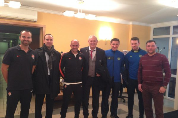 Youth Champions League game - Receiving the Technical Staff from Bayer Leverkussen in Kirsha - November 2013