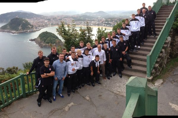 Youth Champions League game - Sightseeing San Sebastian with U19´s - September 2013